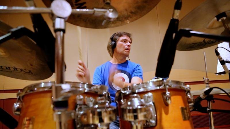 Grabación baterías de Juanjo Ortí