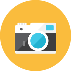Camara de fotos icono
