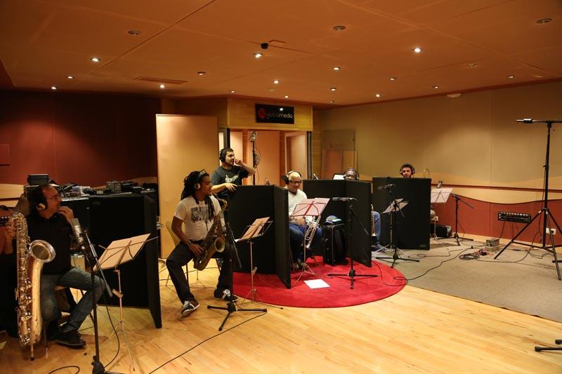 Grabación en estudio sección vientos